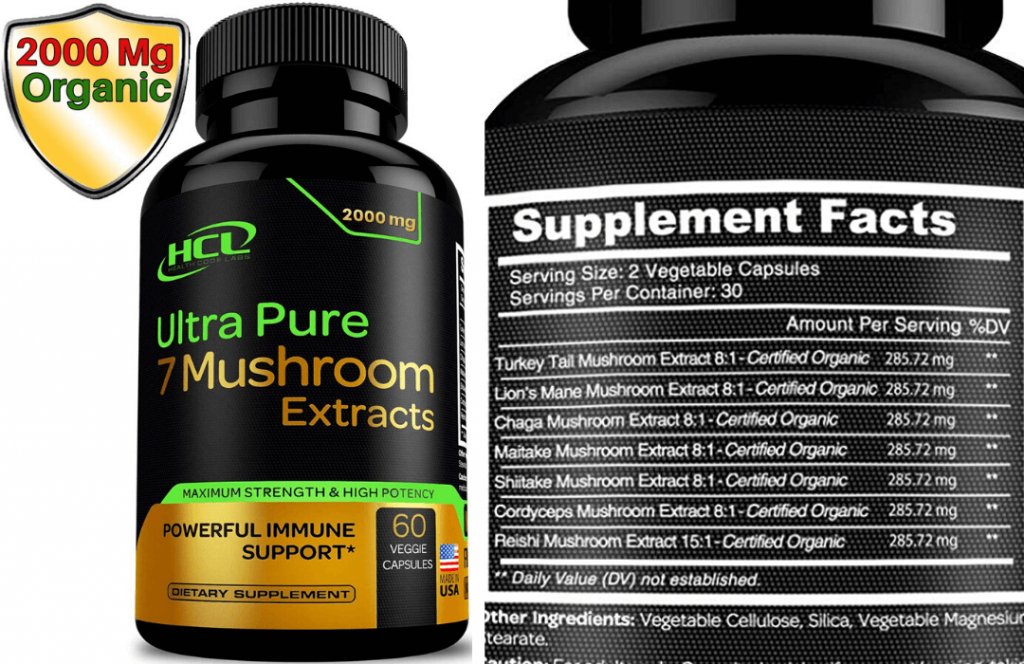 ultra pure 7 mushroom supplement extracts